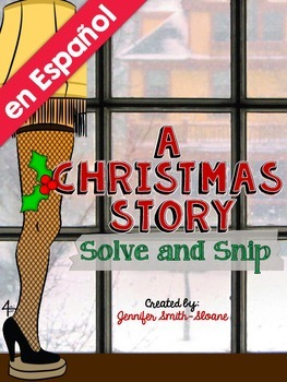 Spanish A Christmas Story with Decimals Solve and Snip