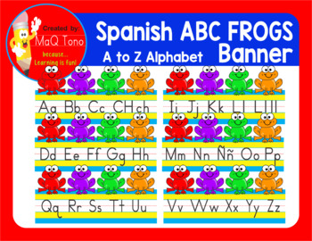 Spanish ABC Frogs Banner