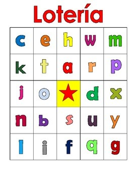 Spanish ABC Lotería