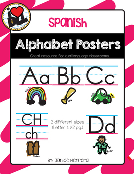 Spanish ABC Posters
