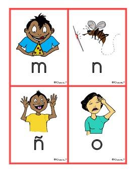 Spanish ABC Sound Clues Blending Cards