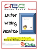 Spanish ABC Sound Clues Letter Writing Practice