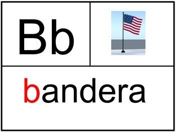 Spanish ABC Vocabulary Cards