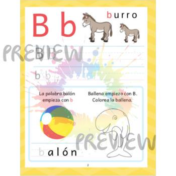 Spanish ABC Workbook (27 printable pages)
