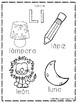 Spanish ABC coloring pages and tracing