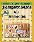 Spanish - ABC matching learning center. Centro de aprendizaje del ABC