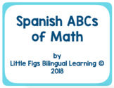 Spanish ABCs of Math (53 terms included)
