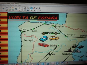Spanish AMAZING Smartboard Board game  (ANY TOPIC)