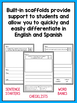 Spanish AND English Writing Prompts bundle for Kindergarten