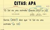 Spanish APA Citation Poster