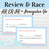 Spanish Present Tense Irregular Yo Verbs Review and Word Race Activity