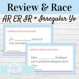 Spanish Present Tense Irregular Yo Verbs Review and Word Race Activity