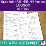 Spanish -AR, -ER, and -IR Verbs Lesson