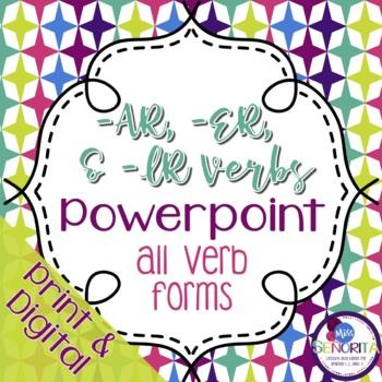 Spanish -AR, -ER, and -IR Verbs Powerpoint