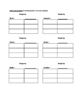 spanish ar practice worksheet for preterite tense by frederick walker. Black Bedroom Furniture Sets. Home Design Ideas