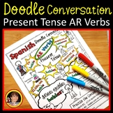 Spanish Present Tense AR Verbs Worksheets (Doodle Style)