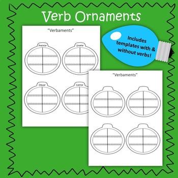 Spanish AR Verb - Christmas Conjugation Practice