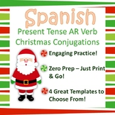 Spanish AR Verb - Christmas Conjugation Practice