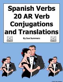 Spanish -AR Verb Conjugation Fill in the Blank and Translations