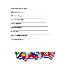 Spanish -AR Verb Conjugation Practice with Ir