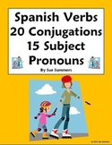 Spanish AR Verb Conjugations and Subject Pronouns Worksheet