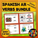 Spanish AR Verbs Boom Cards, Spanish Digital Flashcards, T