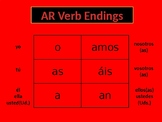 Spanish Present Tense AR Verb Poster
