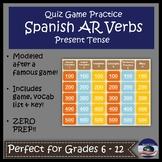 Spanish AR Verb Quiz Game Show
