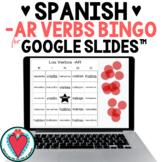 Spanish -AR Verbs - Spanish Games for Google Slides - Conjugation Bingo