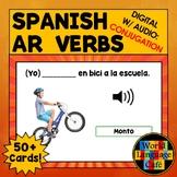 AR Verbs Spanish Boom Cards, Digital Task Cards, Present T