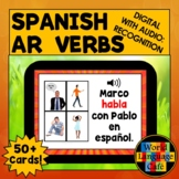 Spanish AR Verbs Flashcards, Meanings, Digital, Distance L