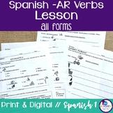 Spanish -AR Verbs Lesson - singular & plural