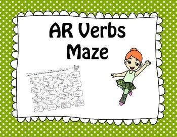 Spanish AR Verbs Maze