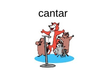 Spanish AR Verbs PICTURE Notes Powerpoint