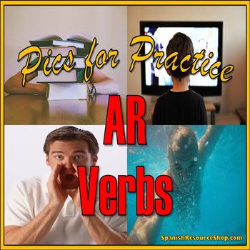 Spanish AR Verbs Pics for Practice Powerpoint
