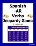 Spanish -AR Verbs Present Tense Jeopardy Game - Spanish Games
