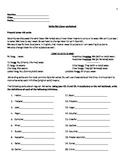 Spanish AR Verbs, Present Tense, Worksheet