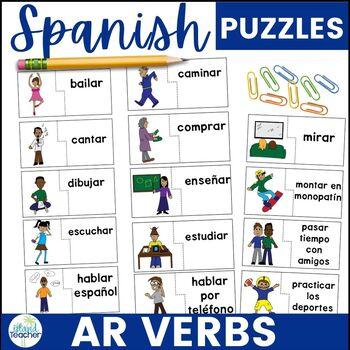 Spanish AR Verbs Puzzles