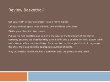 Spanish -AR Verbs Review Basketball Powerpoint Game