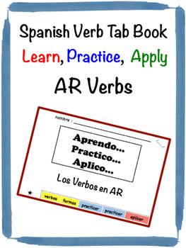 Spanish AR Verbs Tab Book