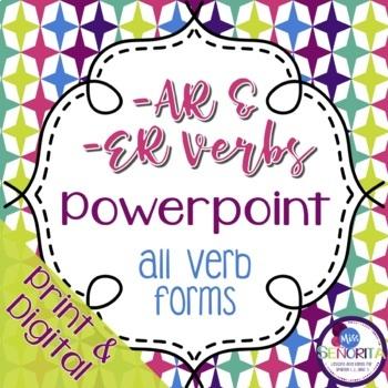 Spanish -AR  and -ER Verbs Powerpoint