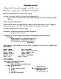 Spanish AR verb conjugation notes and practice