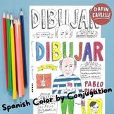 Spanish -AR verb practice Color by conjugation Instant download PDF no prep