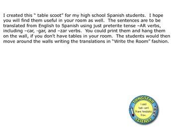Spanish -AR verb scoot