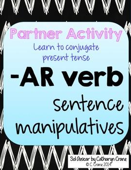 Spanish -AR verb sentence manipulatives