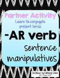 Spanish -AR verb sentence manipulatives