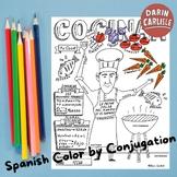 Spanish -AR verbs Cocinar Comida Color by conjugation No prep Spanish verb