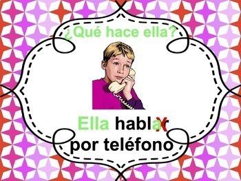 Spanish -AR verbs Powerpoint - singular & plural