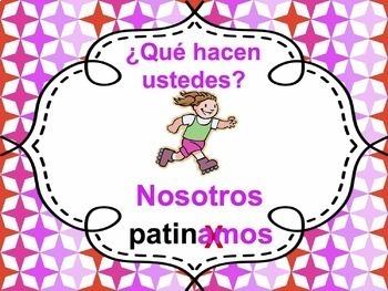 Spanish -AR verbs Powerpoint - all forms