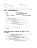 Spanish -AR verbs Practice